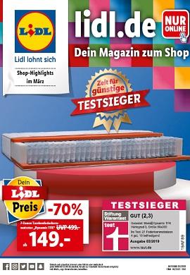 Lidl Bestellmagazin März